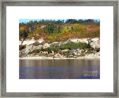 Framed Print featuring the photograph Autumn's Brush by Jim Sauchyn