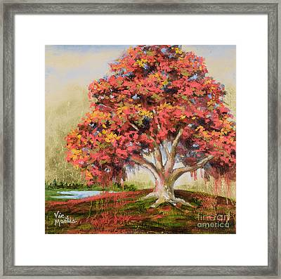 Autumn's Delight Framed Print by Vic  Mastis