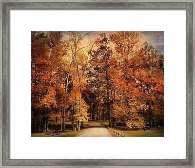 Autumn's Entrance Framed Print by Jai Johnson