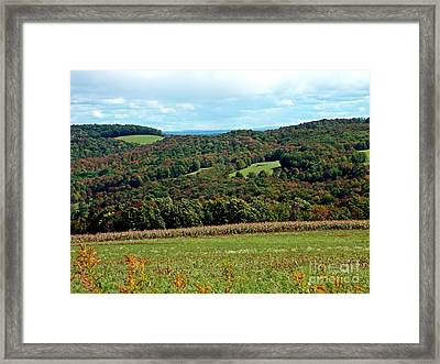 Framed Print featuring the photograph Autumns First Blush by Christian Mattison