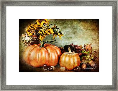 Autumn's Offerings Framed Print by Stephanie Frey