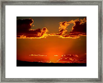 Autumn's Sunset Framed Print by Aaron Burrows