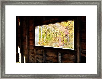 Autumn's Window Framed Print