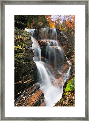 Avalanche Falls - Franconia Notch Framed Print by Thomas Schoeller