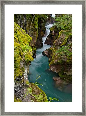 Avalanche Gorge Framed Print by Greg Nyquist