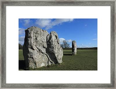 Avebury Stones Framed Print by Adrian Wilkins