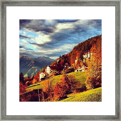 Avelengo-south Tyrol Framed Print