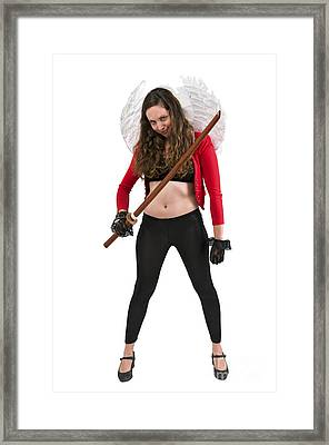 Avenging Angle With A Sword  Framed Print by Ilan Rosen