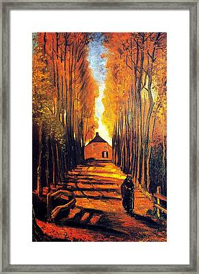 Avenue At Poplars Framed Print by Sumit Mehndiratta
