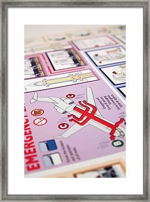 Aviation Information IIi Framed Print by Ricky Barnard