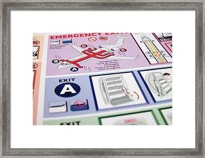 Aviation Information Framed Print by Ricky Barnard