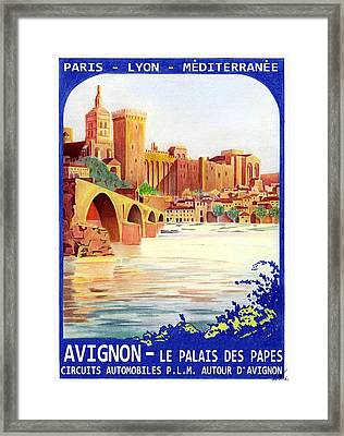 Avignon Deco Framed Print by Lyle Brown
