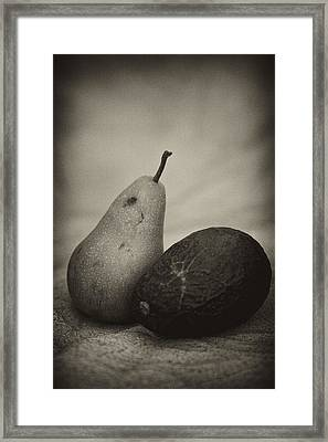 Framed Print featuring the photograph Avocado And Pear by Hugh Smith