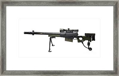 Aw50 Anti-materiel Bolt-action .50 Framed Print by Andrew Chittock