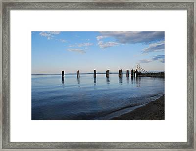 Awaiting The Ferry Framed Print by Tiffany Ball-Zerges