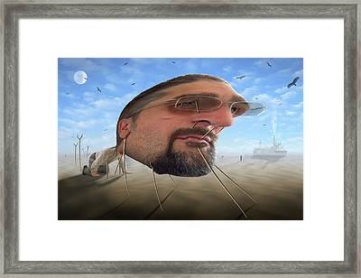 Awake . . A Sad Existence 2 Framed Print by Mike McGlothlen