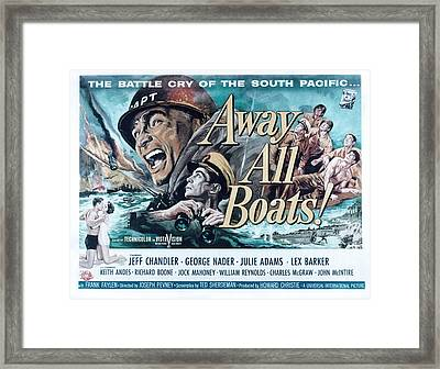 Away All Boats, Jeff Chandler, George Framed Print by Everett