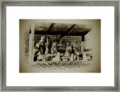 Away In The Manger Framed Print by Bill Cannon