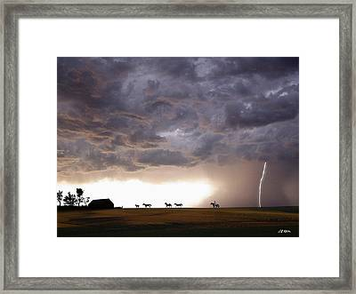 Awesome Storm Framed Print by Bill Stephens
