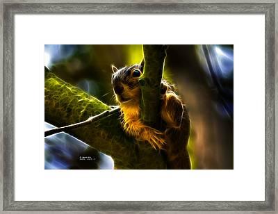 Awww Shucks- Fractal - Robbie The Squirrel Framed Print