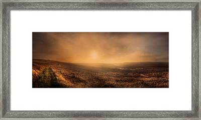 Axe Edge Framed Print by Andy Astbury