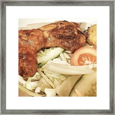 Ayam Penyet Or Smashed Chicken In Framed Print