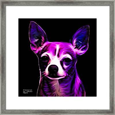 Aye Chihuahua - Magenta Framed Print