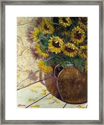 Ayesha And Brian's Bouquet Framed Print by Sheila Kinsey