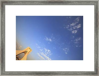Azadi Tower Monument In Tehran Framed Print by Massimo Pizzotti