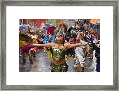 Aztec Dancer - San Miguel De Allende Framed Print