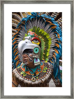 Framed Print featuring the photograph Aztec Eagle Dancer - Mexico by Craig Lovell