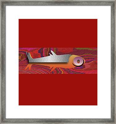 Framed Print featuring the digital art Aztec Fish by Asok Mukhopadhyay