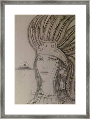 Aztec Princess Framed Print by  Rene Nava