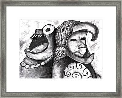 Aztec Warrior Spirit Framed Print