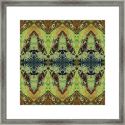 Azuraz Buff Tiled Framed Print by Sue Duda