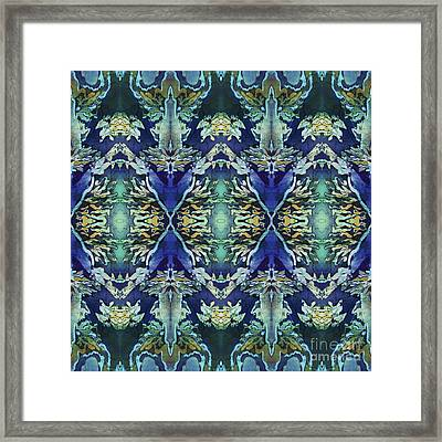Azuraz Candle Tiled Framed Print by Sue Duda
