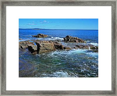 Azure And Emerald Framed Print