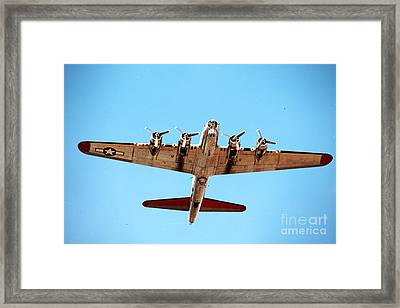 B-17 Bomber - Technicolor Framed Print