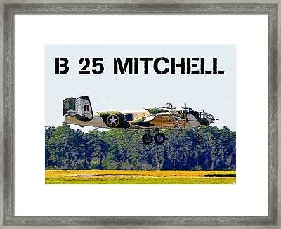 B 25 Mitchell Bomber Framed Print by David Lee Thompson