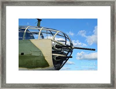 B-25j Nose Framed Print by Lynda Dawson-Youngclaus