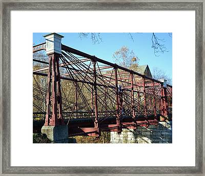 Framed Print featuring the photograph B And O Bridge by Mary Zeman