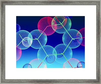 B-chain Of Insulin Molecule Framed Print
