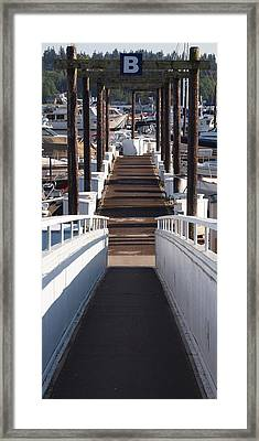 B Dock Framed Print by Jim Moore