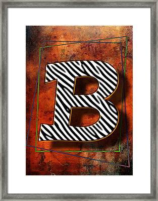 B Framed Print by Mauro Celotti