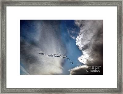 Framed Print featuring the photograph B R E A T H E by Vicki Ferrari