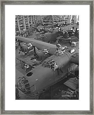 B24 War Bird Assembly 1943 Framed Print by Padre Art