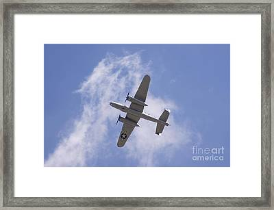 B25 Framed Print by Robert E Alter Reflections of Infinity