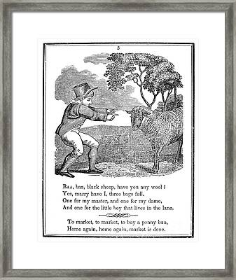 Baa, Baa, Black Sheep, 1833 Framed Print