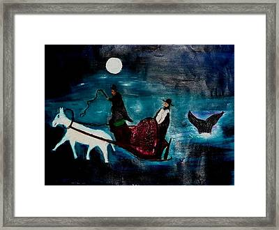 Baal Shem Tov In His Carriage Framed Print by Eliezer Sobel