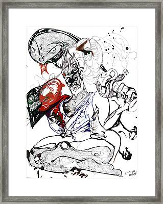 Baba Framed Print by Die Go Learn